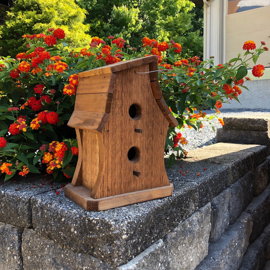 Two Story Twisted Birdhouse | Hand Made from Reclaimed Wood