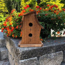 Load image into Gallery viewer, Two Story Twisted Birdhouse | Hand Made from Reclaimed Wood