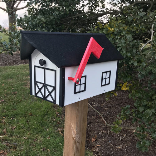 Barn Style Mailbox | Poly Lumber | Free Shipping | Durable Quality Craftsmanship | E250