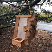 Load image into Gallery viewer, Frog Bird Feeder | Hand Made from Reclaimed Wood