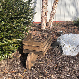 Wheelbarrow Planter | Hickory Wood Garden Decor | Amish Made