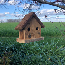 Load image into Gallery viewer, Rustic 2-Hole Birdhouse | Hand Made from Reclaimed Wood | RBH34