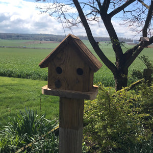 Rustic 2-Hole Birdhouse | Hand Made from Reclaimed Wood | RBH34