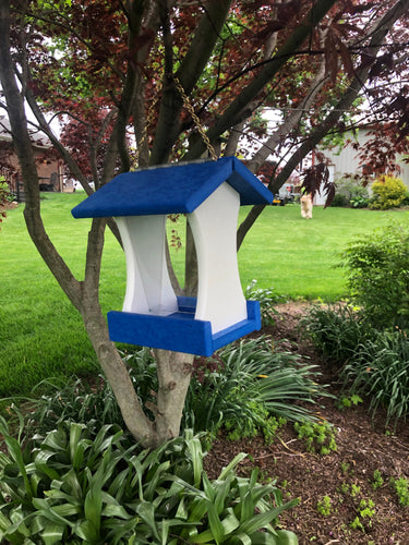 Hopper Style Bird Feeder | Simple and Easy to Fill | Made with Durable Poly Lumber