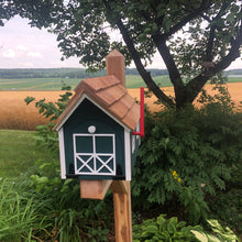 Load image into Gallery viewer, Green Wooden Mailbox | Barn Amish Made | SS001