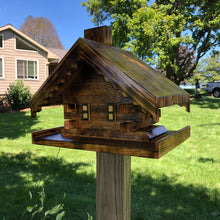 Load image into Gallery viewer, Log Cabin Bird Feeder | Yard and Garden Decor | Amish Made | LC001