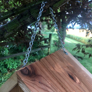 Red. Cedar Hanging Birdhouse | Simple Beautiful and Functional |  F003