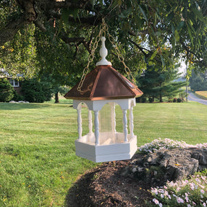 Hanging Bird Feeder with Copper Roof | EW-SWCF-H