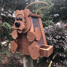 Load image into Gallery viewer, Bear Bird Feeder | Hand Made from Reclaimed Wood | BF16