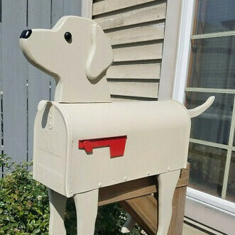 Yellow Lab | Unique Dog Mailbox | pp003