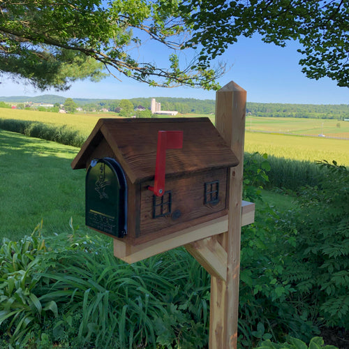 Rustic Wooden Mailbox | Metal Box Insert | Made with Reclaimed Wood | B1000