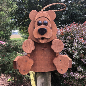 Bear Bird Feeder | Hand Made from Reclaimed Wood | BF16