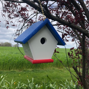 Red, White and Blue Poly Lumber Wren Birdhouse | Durable and Practical | E110
