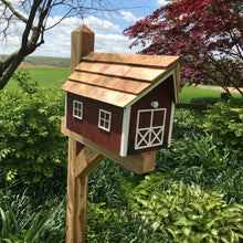 Load image into Gallery viewer, Red Wooden Mailbox | Barn Amish Made | SS001