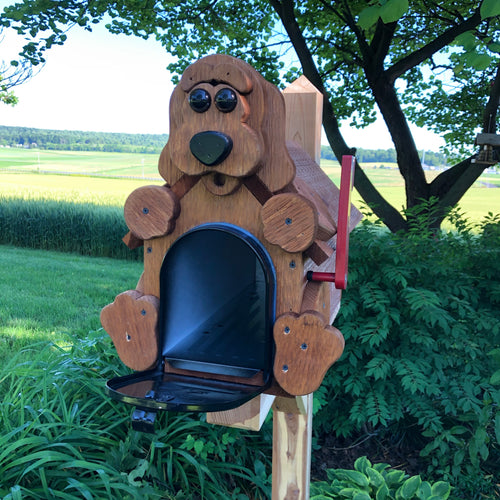 Adorable Puppy Mailbox | Metal Box Insert | Made with Reclaimed Wood | B1003