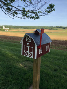 Traditional Barn Style Mailbox | Free Shipping! | Unique Rustic Outdoor Decor | K0002