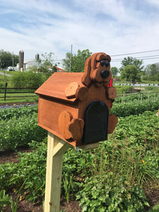 Adorable Puppy Mailbox | Metal Box Insert | Made with Reclaimed Wood