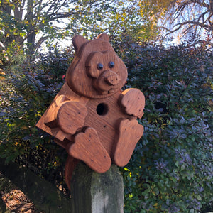 Squirrel Birdhouse | Hand Made from Reclaimed Wood | BH14