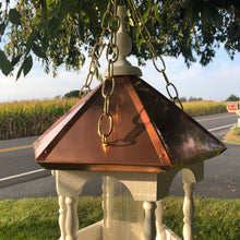 Load image into Gallery viewer, Hanging Bird Feeder with Copper Roof | EW-SWCF-H