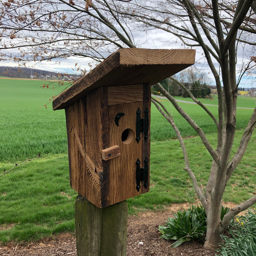 Outhouse Birdhouse | Hand Made from Reclaimed Wood