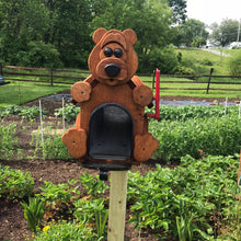 Load image into Gallery viewer, Adorable Bear Mailbox | Metal Box Insert | Made with Reclaimed Wood