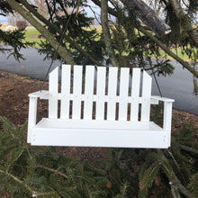 Load image into Gallery viewer, White Porch Swing Bird Feeder| Made from Recycled Plastic | CP008