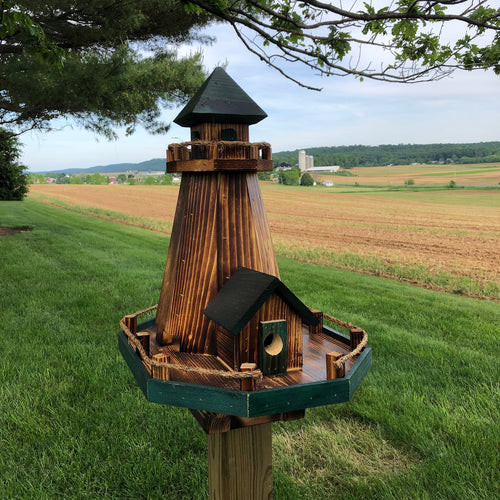 Old Cape Cod Lighthouse Bird Feeder & Birdhouse Combination