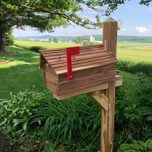 Simple and Beautiful Cedar Log Cabin Mailbox  | Metal Box Insert | SB005