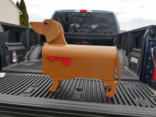 Load image into Gallery viewer, Red Dachshund Mailbox| Wiener Dog | Unique Dog Mailbox