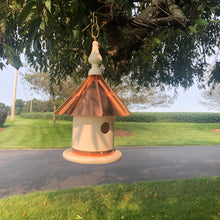 Load image into Gallery viewer, Vinyl Wren House with Copper Roof | Birdhouse | Amish Made | EW-VWC