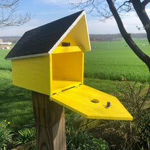 Load image into Gallery viewer, Easy to Clean Wooden Birdhouse | Free Shipping | Rustic Amish Outdoor Decor | K0006