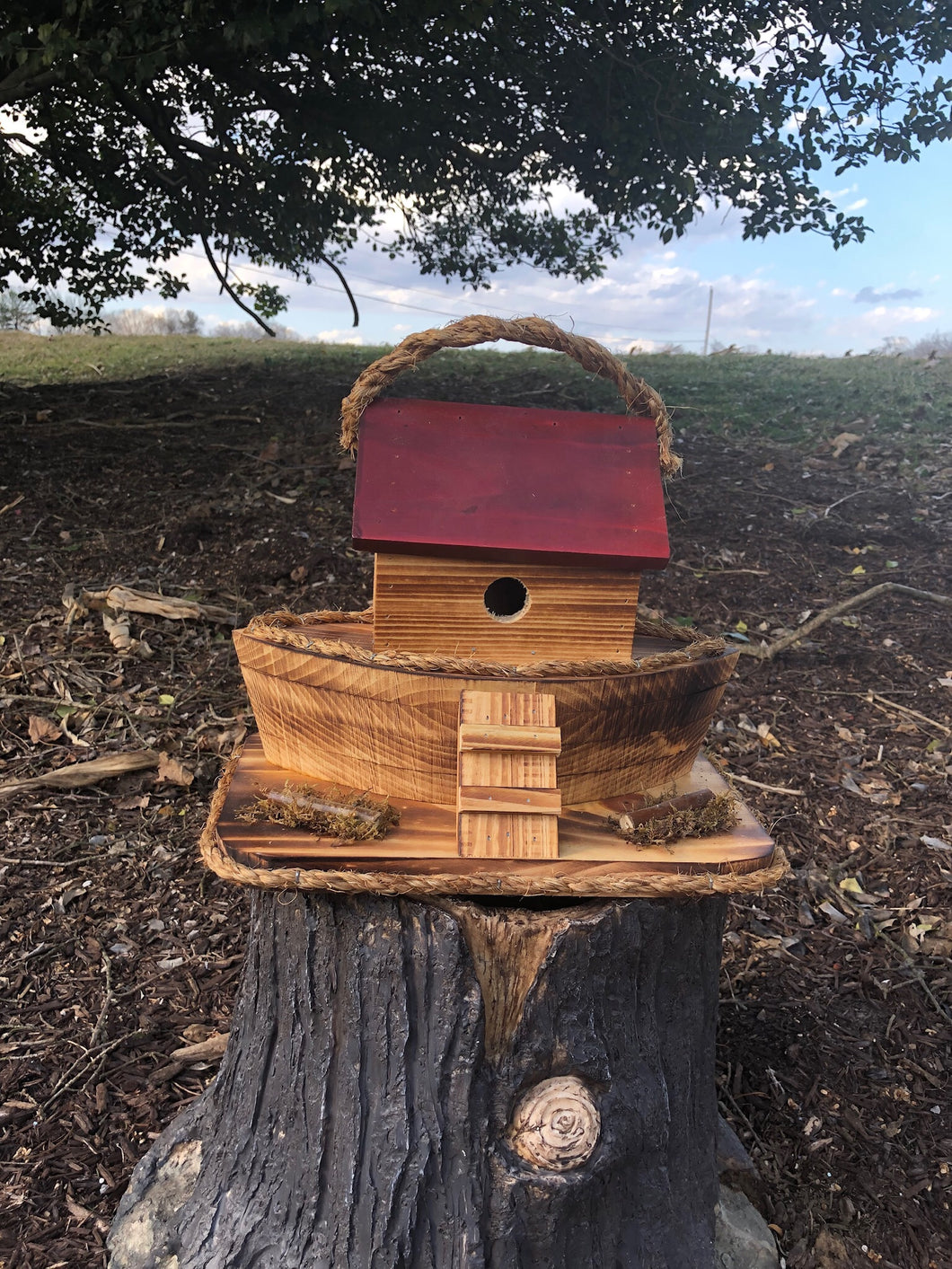 Ark Birdhouse | Rustic hand made birdhouse