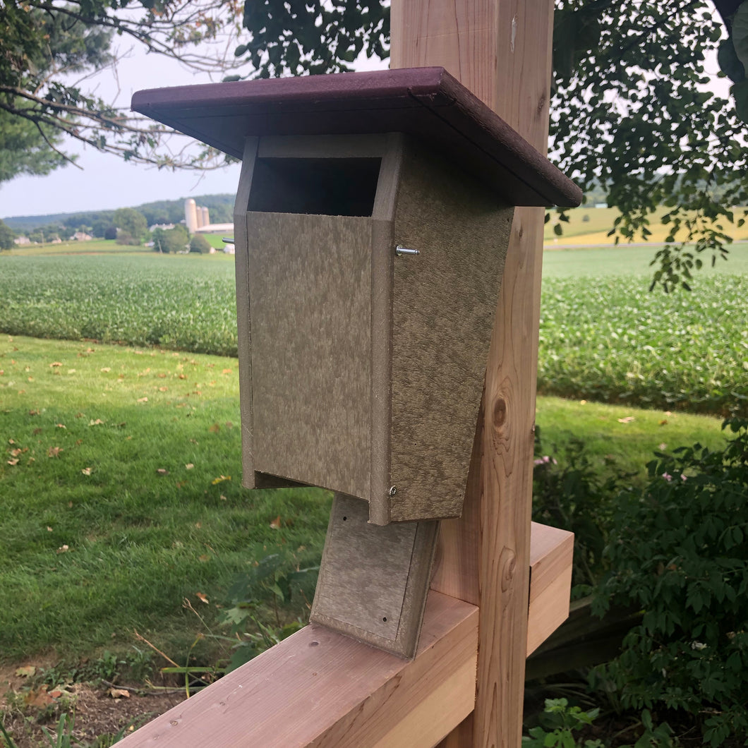 Sparrow Resistant Blue Bird Box | Durable Poly Lumber | Amish Made | E102