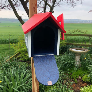 Durable and Beautiful Red, White and Blue Mailbox | Poly Lumber