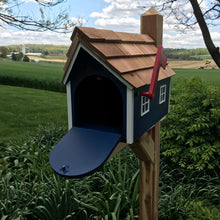 Load image into Gallery viewer, Blue Wooden Mailbox | Barn Amish Made | SS001