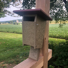 Load image into Gallery viewer, Sparrow Resistant Blue Bird Box | Durable Poly Lumber | Amish Made | E102