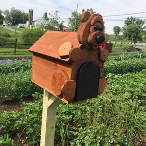 Adorable Bear Mailbox | Metal Box Insert | Made with Reclaimed Wood