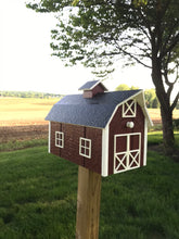 Load image into Gallery viewer, Traditional Barn Style Mailbox | Free Shipping! | Unique Rustic Outdoor Decor | K0002