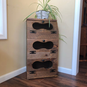 Storage Bin | Potato and Onion Bin | Rustic Farmhouse Decor | TTA-ON