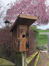 Load image into Gallery viewer, Outhouse Birdhouse | Hand Made from Reclaimed Wood | bh8