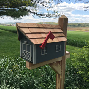 Gray Wooden Mailbox | Barn Amish Made | SS001