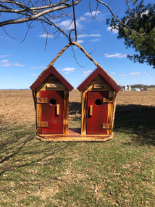 His & Her Outhouse Birdhouse | Wooden Birdhouse | CL654