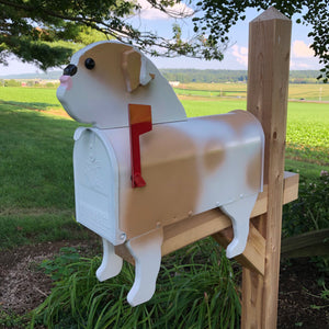 English Bulldog Mailbox | Unique Dog Mailbox | pp015