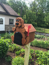 Load image into Gallery viewer, Adorable Puppy Mailbox | Metal Box Insert | Made with Reclaimed Wood