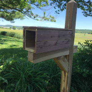 Aromatic Cedar Newspaper Box | Wooden Mailbox Accessory | SB006