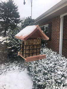 Double Suet Bird Feeder| Made from Cedar Wood