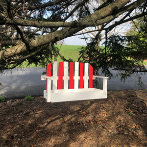 Porch Swing Bird Feeder| Made from Recycled Plastic | Red and White | CP008