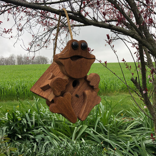 Frog Birdhouse | Hand Made from Reclaimed Wood