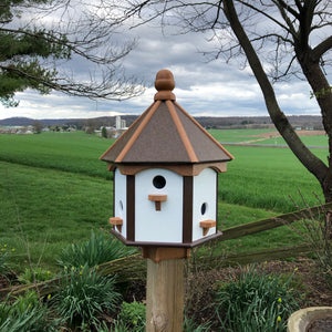 Birdhouse with Six Apartments | Durable Poly Lumber | Handmade by Amish Craftsmen