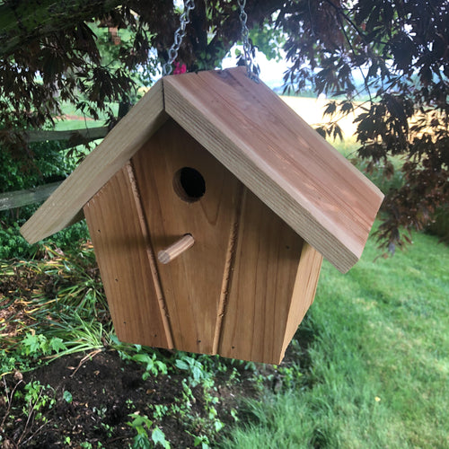 Red Cedar Hanging Birdhouse | Simple Beautiful and Functional |  F003
